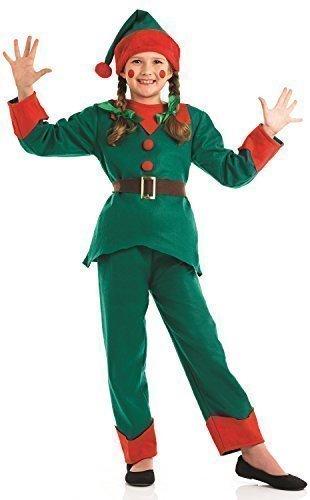 ragazze dei bambini, Babbo Natale, utile elfo pantaloni tuta Natale festive costume travestimento