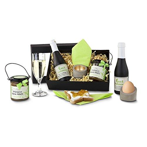 Geschenkset mit Sekt, Eierbecher und Fruchtaufstrich ()