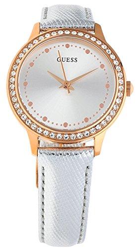 Guess Women's Analogue Quartz Watch with Leather Bracelet – W0648L11