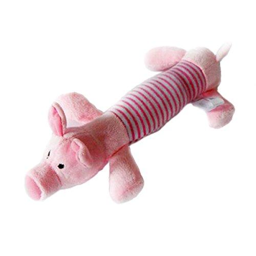 Aprettysunny New Dog Toy Pet Puppy Plüsch Squeaker Squeaky Spielzeug Schwein Ente Elefant Spielzeug (Schüssel Erhöhten Katze)