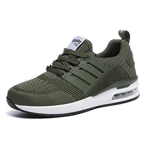 Uomo donna scarpe per correre running sportive ginnastica sneakers fitness training trekking scarpe da casual all'aperto respirabile mesh basse scarpe antiurto green 37 eu