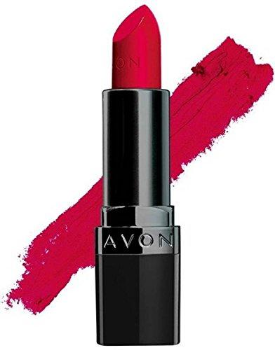 True Color Lippenstift (Avon True Color Perfectly Matte Lipstick, Ruby Kiss, 4g)