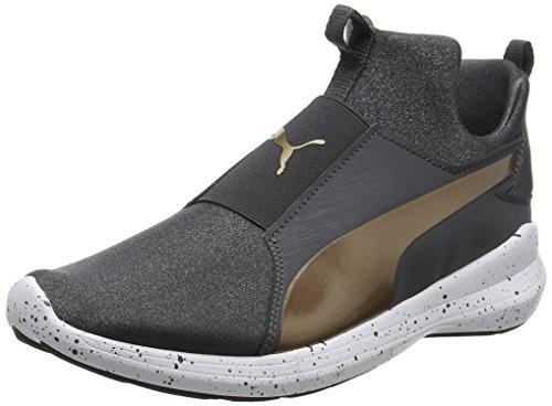 Puma Damen Rebel Mid WNS Speckles Sneaker, Schwarz (Asphalt-Bronze), 39 EU