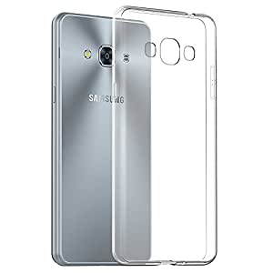 Cell-loid™ Transparent smooth finish soft jelly rubber transparent back cover case for Samsung Galaxy J3 Pro