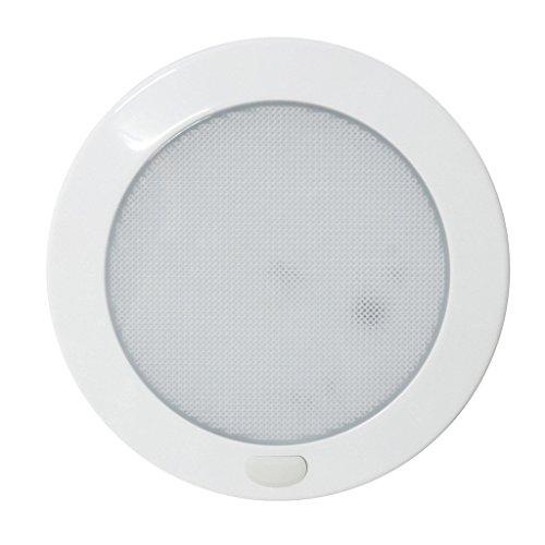 12V LED Lights Round 127MM White Plate