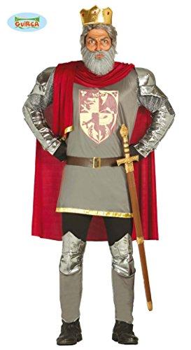 Krieger Kostüme Mittelalter Umhang Erwachsene (König Löwenherz Mittelalter Kostüm für Herren M/L,)