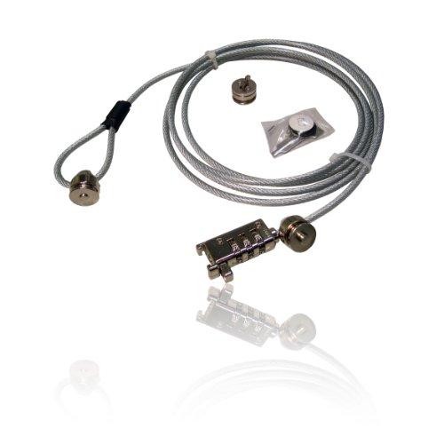 CDL Micro Laptop Notebook Monitor Zwei Innentaschen; Kabel Draht Lock Leine (Draht-leine)