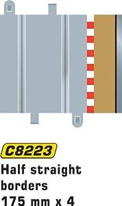 Super Slot 500008223 - BORDE TIRAS 175 MM de 4 piezas, Rennbahnhzubehör Importado de Alemania