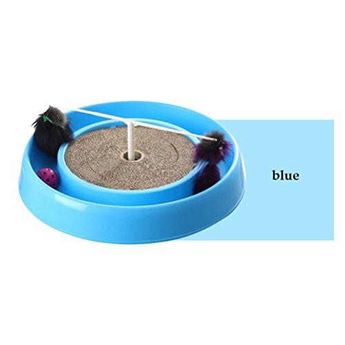 zeug rund aus Kunststoff Wellpappe, Funny Kratzen Pappe und Spielen Spiel, blau ()