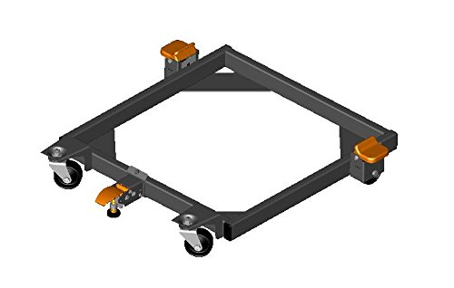 HTC 5112 End Mount Floor Lock for Mobile Bases with 2-Inch Tubing