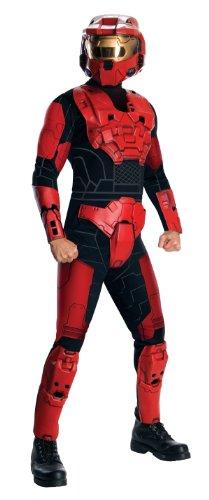 (Halo Red Spartan Mark VI Deluxe Kostüm für Erwachsene - XL)