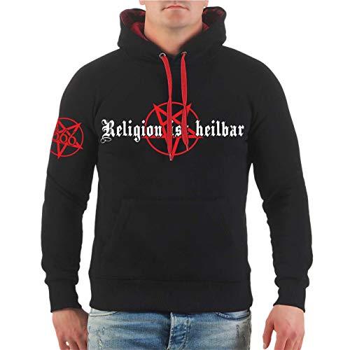 apuzenpullover Religion ist heilbar Größe S - 8XL ()