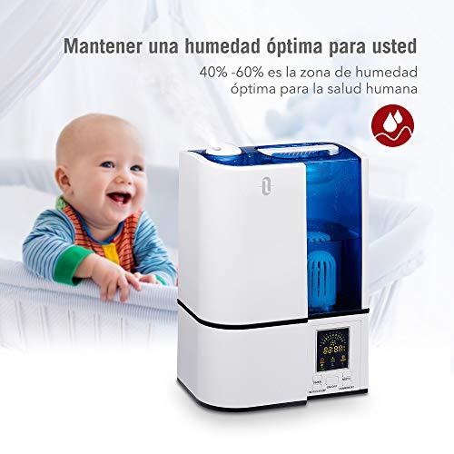 TaoTronics Humidificador 4L Bebé (Vapor Frío, Modo de...