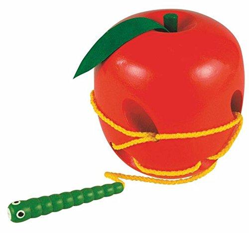 MOTRICIDAD Jugar Habilidades motoras Fädelspiel Apple Juguetes de Madera de Madera Kinderland