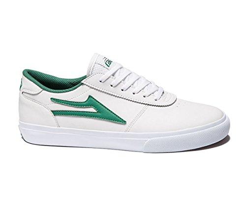 Lakai Manchester, Chaussures de skateboard homme Blanc/vert