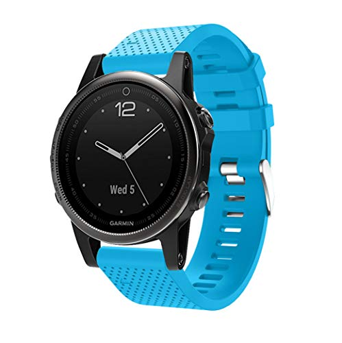 SUPORE Fenix 5S Sportuhr Armband - Silikon Sportarmband Uhr Band Strap Ersatzarmband Uhrenarmband für Garmin Fenix 5S Smartwatch Gps-Multisportuhr