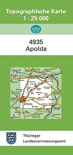 Apolda: 4935 (Topographische Karten 1:25000 (TK 25) Thüringen (amtlich))