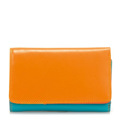 Mywalit Ladies Medium Tri-Fold Wallet Outer Zip Purse copacabana (Wallet Medium Zip)