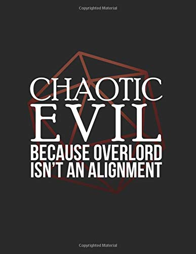 Chaotic Evil: RPG Alignment Themed Mapping and Notes Note