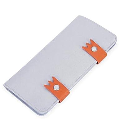 ZLR Mme portefeuille Portefeuille multifonctionnel Wallet à grande capacité pour dames à grande taille