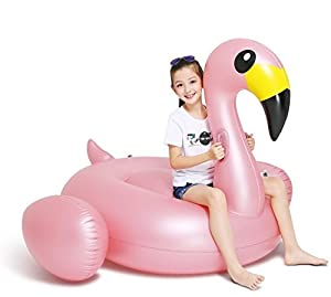 Jasonwell Riesiger Aufblasbar Flamingo Luftmatratze Aufblasbarer Flamingo Pool Floß Schwimmtier Schwimminsel schwimmreifen Pool Spielzeug Wasserspielzeug luftmatratze Wasser Strand Party Kinder Erwachsene Rosa Roségold