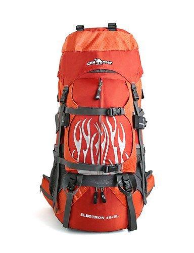 GXS Professional Outdoor Sport Reiten Camping wasserabweisend Multifunktions Schultern Bergsteigen Taschen 45L + 5L Orange - orange
