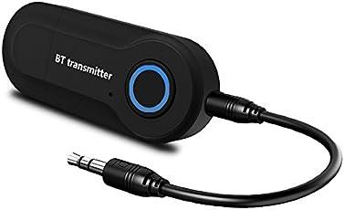 Leoie Bluetooth Audio Transmitter Wireless Audio Adapter Stereo Music Stream Transmitter for TV PC MP3 DVD Player
