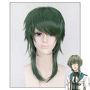 FUHOAHDD grüne Farbe zottigen hell Cospaly Anime Custome Perücken - die Animation Mutsuki Hajime sechs Schwerkraft Juni, Green