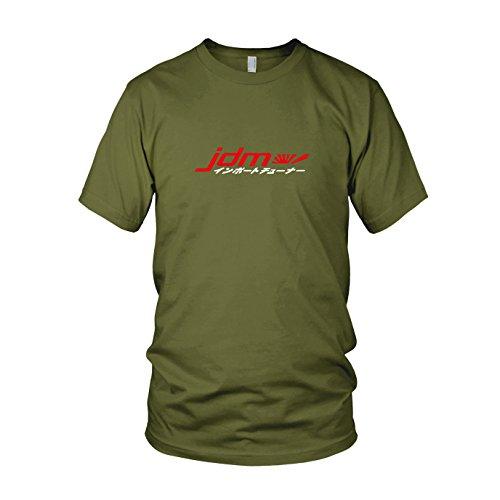 Japanische Logo T-shirt (JDM Logo Japanisch - Herren T-Shirt, Größe: M, Farbe: Army)