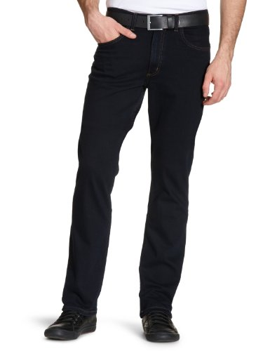 lee-brooklyn-straight-vaqueros-para-hombre-azul-blue-black-w40-l30