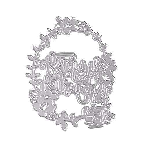 Ode_Joy Nuovo fiore cuore metallo taglio muore stencil fai da te album scrapbooking carta di carta-Fustelle Forma Fiore Taglio Carta Passatempo Decorazione Muore Album Goffratura Fai Da Te