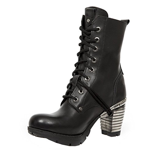 New Rock Womens M.TR001X-S3 Leather Boots Black
