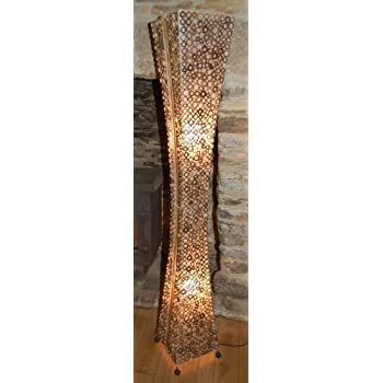 Chuangke 52 soft fabric floor standing lamp holmo floor lamp with unusual floor standing lamp from bali hand made from bamboo rings and fabric 15 metres tall aloadofball Images