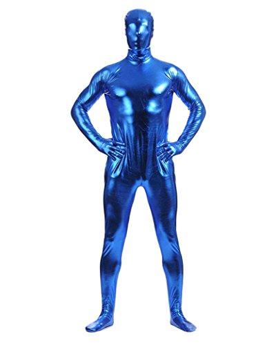 Herren Second Skin Kostüm Ganzkörperanzug Anzug Suit Catsuit Anzug Halloween Dunkelblau XXL (Skin-suit Halloween-kostüme)