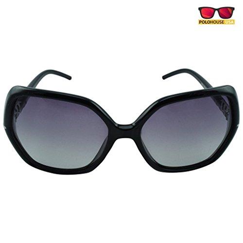 Polo House USA Women's Sunglasses,Color-Black(New)