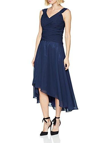 Astrapahl Damen Partykleid co6021ap, Blau (Mitternachtsblau Mitternachtsblau), 42