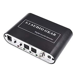 Premium Audio 5.1 Rush décodeur Convertisseur Audio Numérique SPDIF Optique/Coaxial vers 5.1CH AC3 DTS Dolby Audio analogique (6RCA Par J41S sortie)