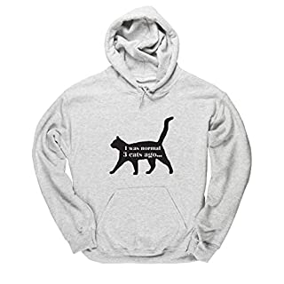 Hippowarehouse Normal 3 Cats Ago Unisex Hoodie Hooded Top