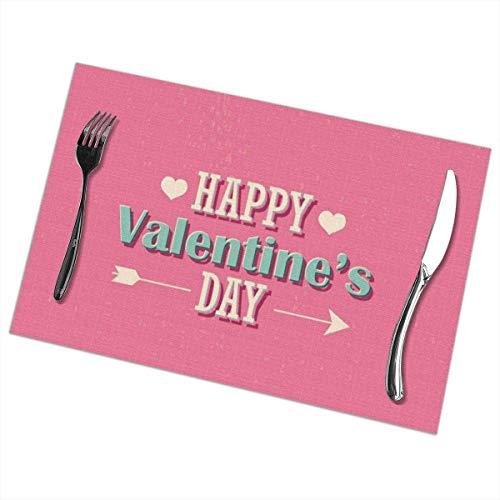 Simpatici tovagliette san valentino set di 6 tovagliette termoresistenti antimacchia tappetini lavabili antiscivolo
