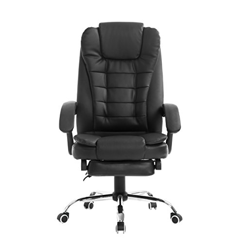 Cherry Tree Luxury Extra Padded High Back Reclining Faux Leather Relaxing Swivel Executive Chair With Footrest