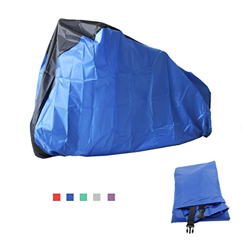 Bicycle Cover Waterproof Bicycle Cover For Bicycles and Motorcycles Against rain, dust, sun, UV (Blu).