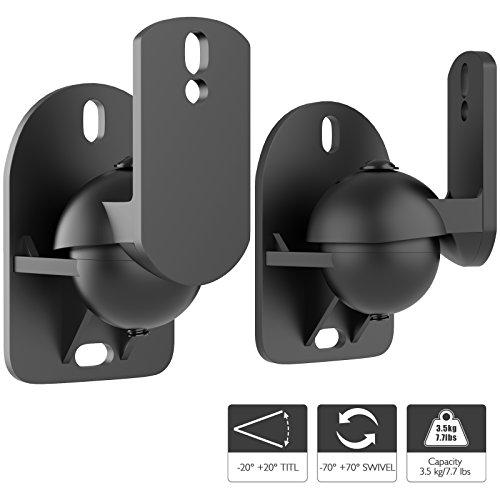 1home 2 Stück (1 Paar) Universell Lautsprecher Boxen Wandhalter Audio Speaker Halter verstellbar...