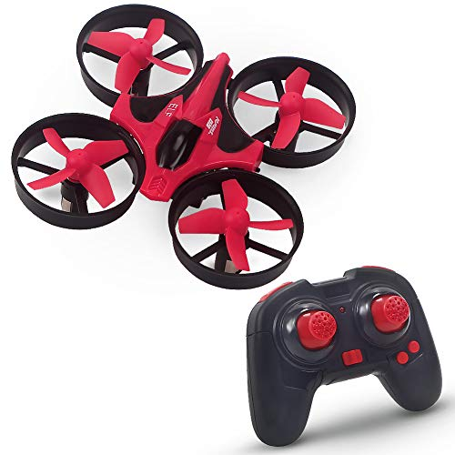 Lumiparty Mini Drone for Kids RC Quadcopter 2.4GHz 4CH Mini UFO with 6-Axis Gyro Headless Mode Remote Control Nano Quadcopter (Red)