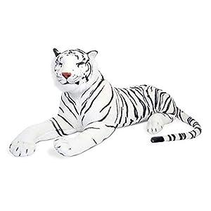 Melissa & Doug Melissa&Doug- White Tiger Giant Juguete de Pluche, Multicolor 13979