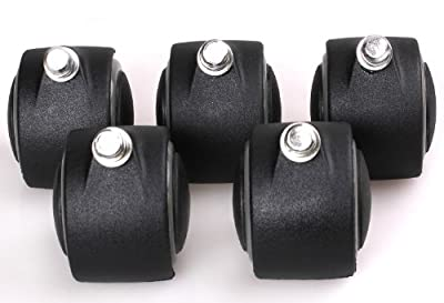 HIMRY 5x Soft / Hard Replacement Castor Wheels for Office Chair Timber Floor or for carpet Floor, with or without brake, Set of 5 castors