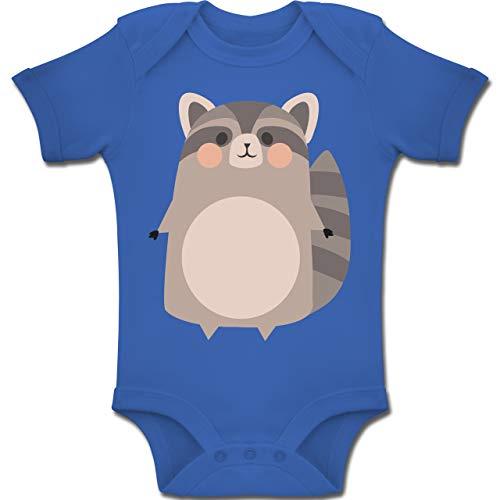 Shirtracer Karneval und Fasching Baby - Kostüm Fasching Waschbär - 12-18 Monate - Royalblau - BZ10 - Baby Body Kurzarm Jungen Mädchen (Junge Waschbären Kostüm)