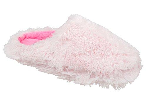 GIBRA® Damenpantoffeln mit weißer Sohle, gefüttert, rosa, Gr. 36-41 Rosa