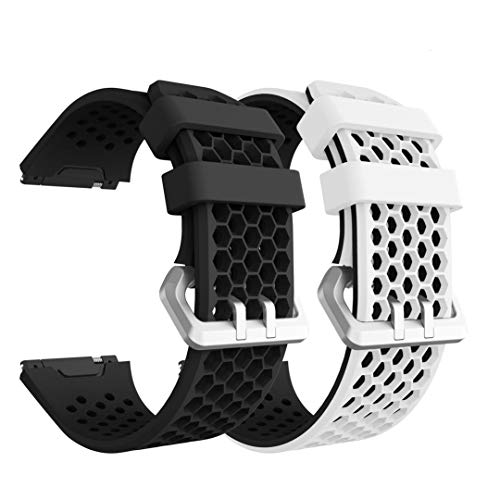YaYuu Fitbit Ionic Armband, Ersatz Uhrenarmbänd Strap Weiches Silikon Sportarmband Erstatzband kompatibel für Fitbit Ionic Fitness Smart Watch