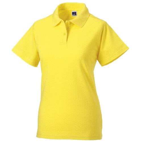 Russell Damen Polo Shirt Europe Klassik Kurzarm Gelb