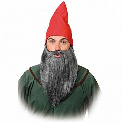 Zwergen Bart glatt, grau-meliert Kostüm Zubehör Fasching Märchen (Die Sieben Kostüme Zwerge)